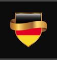 germany flag golden badge design vector image