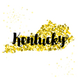 Golden glitter of the state of Kentucky vector image vector image
