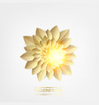 golden leaves with sun ray spark vector image