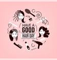 great hair day vector image vector image