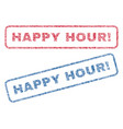 happy hour exclamation textile stamps vector image