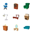 Home environment icons set cartoon style vector image vector image