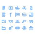hotel service icon and symbol set vector image vector image