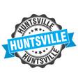 huntsville round ribbon seal vector image vector image