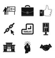 international trade icons set simple style vector image vector image