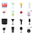 isolated object liquor and restaurant logo vector image vector image