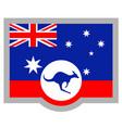 kangaroo flag vector image vector image