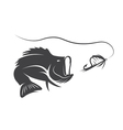 largemouth bass and lure design template vector image vector image