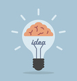 Light bulb with brain Idea concept vector image vector image