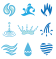 logo icons water vector image
