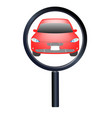 magnifying glass searching a car vector image
