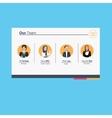 Managment Team Icon vector image vector image