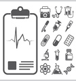 Medical And Healthcare Sign Symbol Icon Set vector image