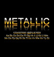 metallic gold font vector image vector image