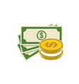 money icon bank or financial symbol design flat vector image
