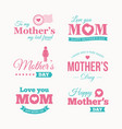 mothers-day-logo-set vector image vector image