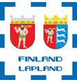 national ensigns flag and emblem of finland - vector image vector image