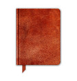 Natural Leather Notebook Copybook With Bookmark vector image