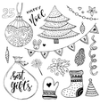 New Year collection of decorations Christmas vector image vector image