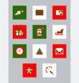 new year icons collection vector image