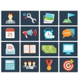 office flat icons vector image vector image