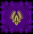 ornate greek 3d mandala pattern modern geometric vector image vector image