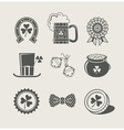 patricks day set of icons vector image vector image