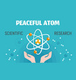 peaceful atom concept banner flat style vector image