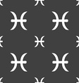Pisces zodiac sign sign Seamless pattern on a gray vector image vector image