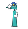 police otoscope character cartoon style vector image vector image