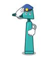 police otoscope character cartoon style vector image