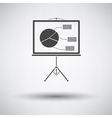 Presentation stand icon vector image