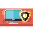 Protection Software Design Flat Concept vector image