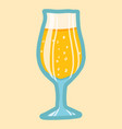 pub glass beer icon hand drawn style vector image