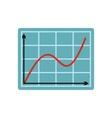 Screen arrow graph board flat icon vector image vector image