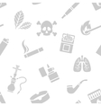 Seamless pattern of smoking elements vector image vector image