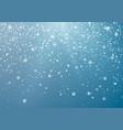 seasonal winter holiday snowfall festiveal vector image vector image