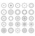 set of gear icons vector image
