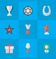 set of simple reward icons elements first metal vector image vector image