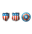 shields with amrerican design vector image