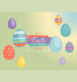 special offer easter sale inscription on vector image vector image