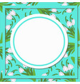 spring background with realistic snowdrops on vector image vector image