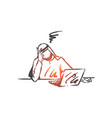 stress depression burnout concept sketch hand vector image