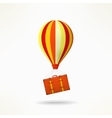 Travel case with balloon Mooving and travelling vector image vector image