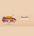 travel to china airplane with attractions travel vector image