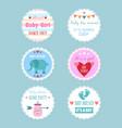 variety baby shower emblems