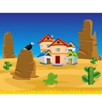 Village on dick west vector image
