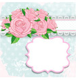 Vintage background with pink roses vector image vector image