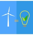 Wind turbine as eco-friendly source of energy vector image vector image