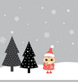winter with owl vector image vector image